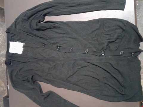 Lot 95 LONG BLACK BUTTONED CARDIGAN WITH POCKETS