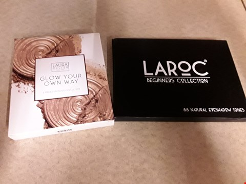Lot 2174 LOT OF 2 ITEMS TO INCLUDE LAURA GELLER GLOW YOUR OWN WAY 2 PIECE LUMINOUS COLLECTION AND LAROC BEGINNERS COLLECTION 88 NATURAL EYESHADOW TONES