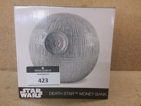 Lot 423 BRAND NEW BOXED STAR WARS DEATH STAR MONEY BANK