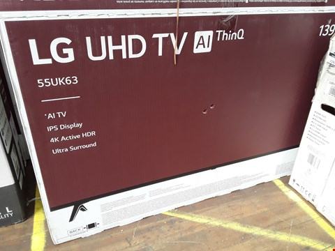 "Lot 1083 LG 55"" UHD THINQ 4K ACTIVE HDR TELEVISION MODEL 55UK6300PLB"