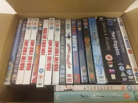 Lot 1088 BOX OF APPROXIMATELY 20 ASSORTED DVD'S TO INCLUDE RUN FOR YOUR WIFE, THE ROAD, LE MANS 66 ETC