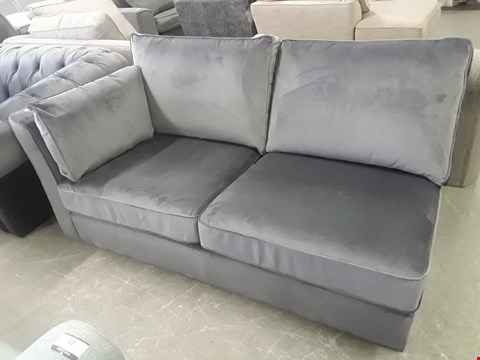 Lot 11 CHARCOAL VELVET TWO SEATER SECTION