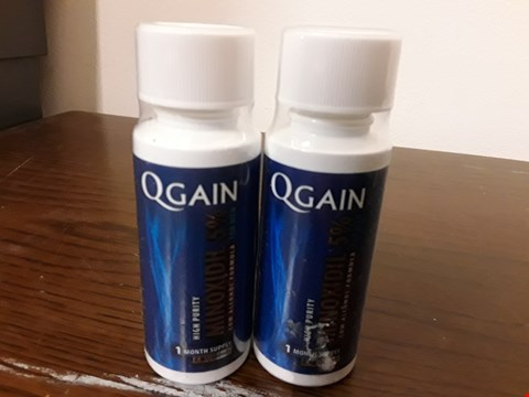 Lot 8040 LOT OF 2 QGAIN 60ML MINOXIDIL 5% LOW ALCOHOL HAIR REGROWTH TREATMENTS