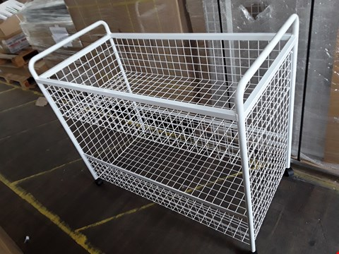 Lot 2106 BRAND NEW LARGE WHITE TWO-TIER TROLLEY