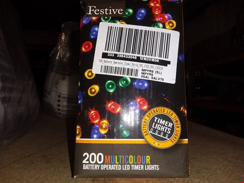 Lot 4881 LOT OF 3 GRADE 1 200 BATTERY OPERATED MULTICOLOUR INDOOR/OUTDOOR CHRISTMAS LIGHTS RRP £57.00