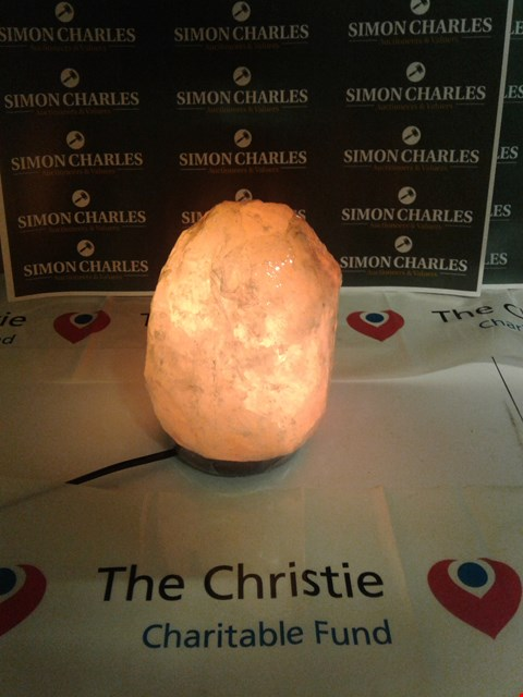 Lot 21 BRAND NEW NATURAL AND HAND CRAFTED HIMALAYAN ROCK SALT LAMP