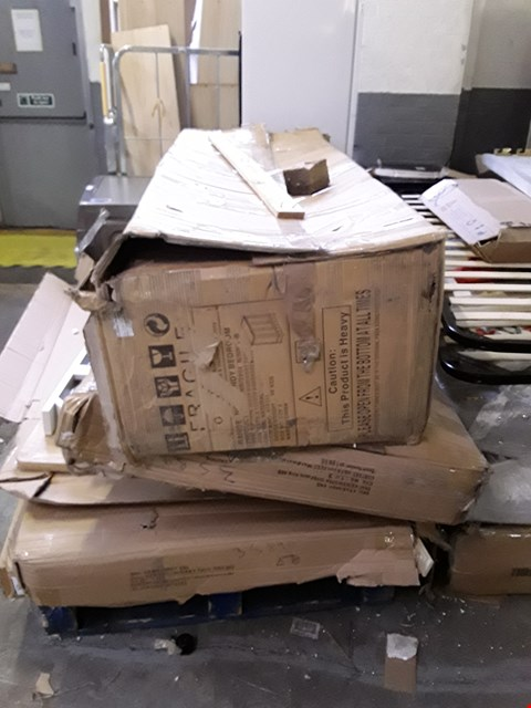 Lot 2113 PALLET OF ASSORTED FLAT PACK FURNITURE PARTS