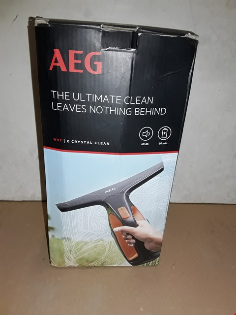 Lot 8009 BOXED AEG WX7 CRYSTAL CLEAN WINDOW CLEANER