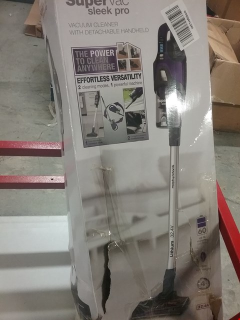 Lot 9520 MORPHY RICHARDS SUPERVAC SLEEK PRO VACUUM CLEANER