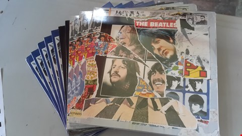 Lot 9074 LOT OF 10 THE BEATLES VINYL RECORDS TO INCLUDE ANTHOLOGY 3, PAST MASTERS AND 1967 -70