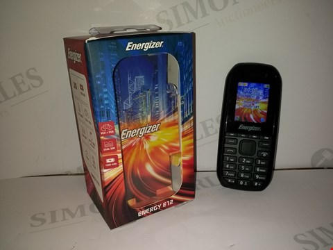 Lot 18373 ENERGIZER ENERGY E12 MOBILE PHONE IN BLACK