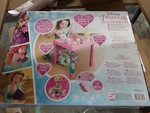 Lot 11047 LOT OF 3 GRADE 1 ITEMS TO INCLUDE PERSONALISED FEATHER BAUBLE, SILVER GLITTER SILENT NIGHT ROOM AND DISNEY PRINCESS DELUXE TEA PARTY SET