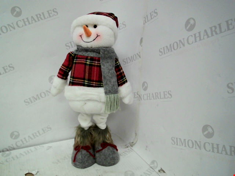 Lot 13008 TARTAN STANDING SNOWMAN CHRISTMAS DECORATION RRP £22.99