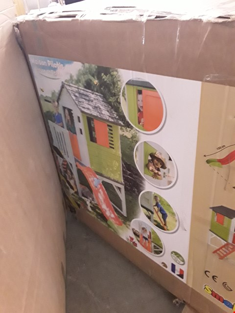 Lot 246 SMOBY MY HOUSE ON STILTS WITH SLIDE (1 BOX) RRP £449.99