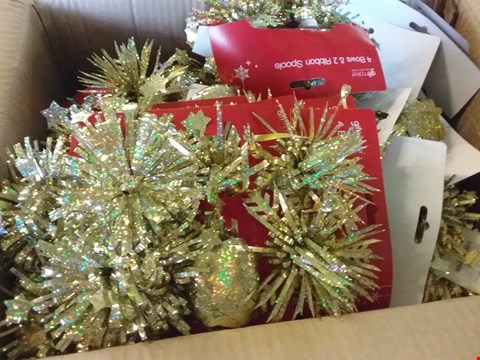 Lot 645  BOXES OF ASSORTED CHIRSMAS TREE DECORATIONS
