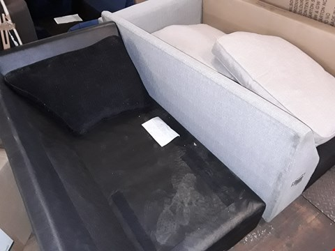 Lot 3046 LOT OF 2 ASSORTED SOFA SECTIONS WITH 3 CUSIONS