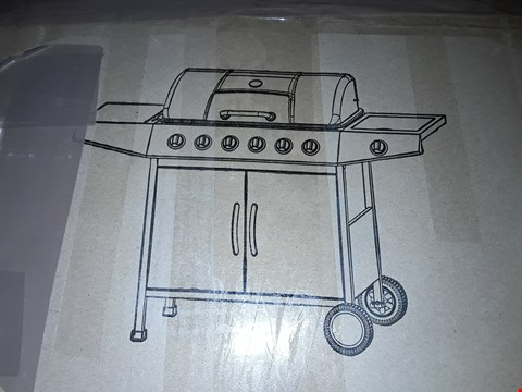 Lot 815 6 BURNER GAS BBQ GRILL WITH SIDE BURNER RRP £499.99