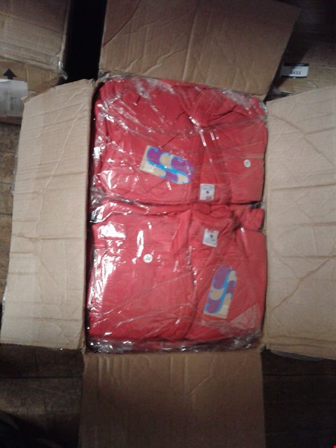 Lot 1378 A BOX OF APPROXIMATELY 50 GIRL'S CARDIGANS - RED
