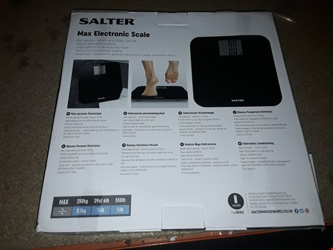 Lot 2435 SALTER MAX BLACK ELECTRONIC SCALE