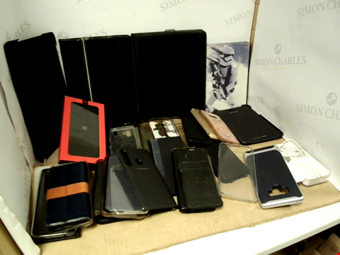 Lot 6188 BOX OF ASSORTED PHONE AND TABLET CASES ETC