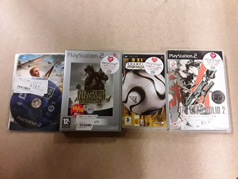 Lot 6157 LOT OF 4 PLAYSTATION ITEMS TO INCLUDE MEDAL OF HONOUR FRONTLINE, CHAMPIONSHIP MANAGER 2006, METAL GEAR SOLID 2 ETC