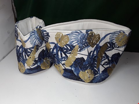 Lot 1289 EDITED BY ERICA DAVIES SET OF 2 FLORAL FOIL PRINTED BASKETS