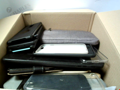 Lot 6190 BOX OF ASSORTED PHONE AND TABLET CASES ETC