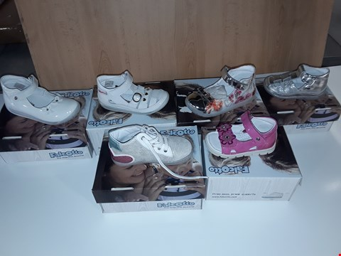 Lot 12811 BOX OF APPROXIMATELY 25 ASSORTED PAIRS OF FALCOTTO CHILDRENS SHOES