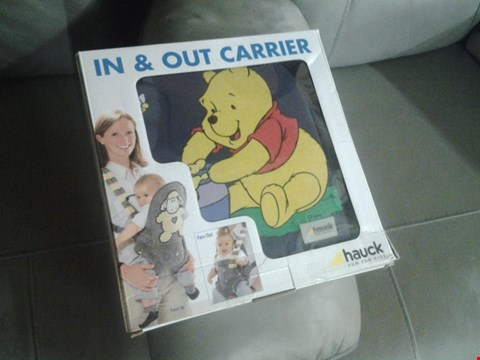 Lot 2038 HAUCK X7 WINNIE THE POOH IN AND OUT CARRIER RRP £139.93