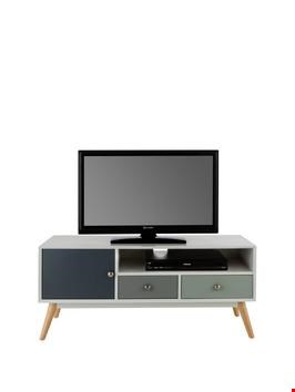 Lot 311 BOXED ORLA GREY RETRO TELEVISION UNIT  (1 BOX) RRP £269
