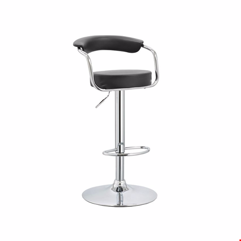 Lot 86 BOXED MIAMI WHITE FAUX LEATHER GAS LIFT BAR STOOL RRP £90
