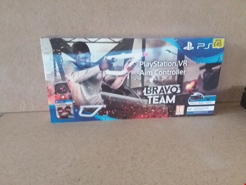 Lot 2 BRAND NEW BOXED PLAYSTATION VR AIM CONTROLLER + BRAVO TEAM FOR PS4