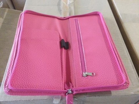 Lot 107 5 BOXES CONSISTING OF APPROXIMATELY 174 LADIES PINK FAUX LEATHER PURSES
