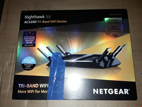 Lot 8064 NETGEAR NIGHTHAWK X6 AC3200 TRI-BAND IF ROUTER