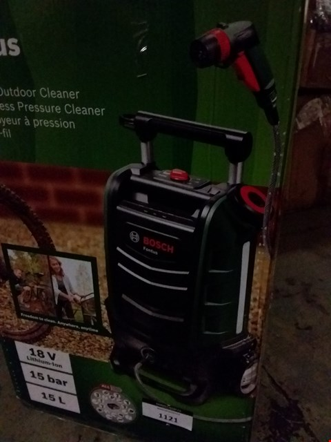 Lot 1121 BOSCH FONTUS CORDLESS PRESSURE CLEANER
