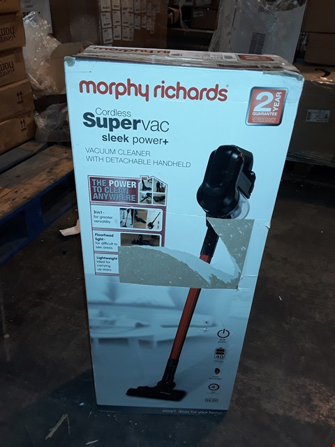 Lot 1061 MORPHY RICHARDS CORDLESS SUPER VAC SLEEK POWER