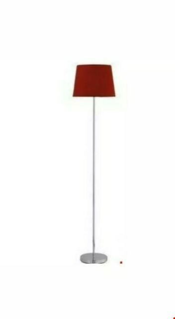 Lot 253 BRAND NEW BOXED LEIGHTON FLOOR LAMP WITH RED SHADE RRP £44.99