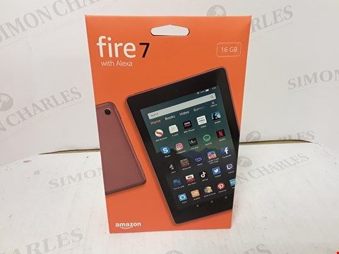 Lot 1764 BOXED SEALED AMAZON FIRE 7 WITH ALEXA 16GB