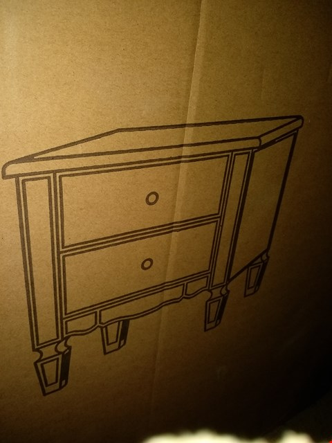 Lot 2179 BOXED MIRAGE 2 DRAWER BEDSIDE RRP £169.00
