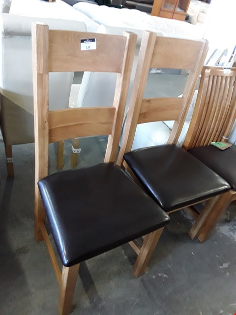 Lot 151 SET OF TWO NEVADA OAK FINISH DINING CHAIRS