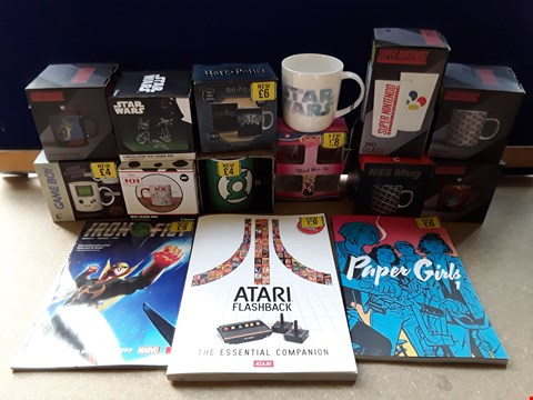 Lot 2234 BOX OF APPROXIMATELY 21 ASSORTED ITEMS TO INCLUDE ATARI FLASHBACK - THE ESSENTIAL COMPANION, SAILOR MOON OFFICIAL GLASS SET, IRON FIST COMIC BOOK