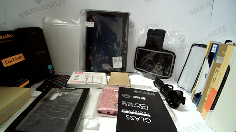 Lot 18094 LOT OF APPROXIMATELY 45 ASSORTED ITEMS TO INCLUDE PHONE CASES,SCREEN PROTECTORS, CABLES ETC