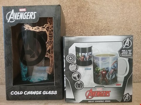 Lot 337 2 BRAND NEW ITEMS TO INCLUDE AVENGERS MUG AND GLASS