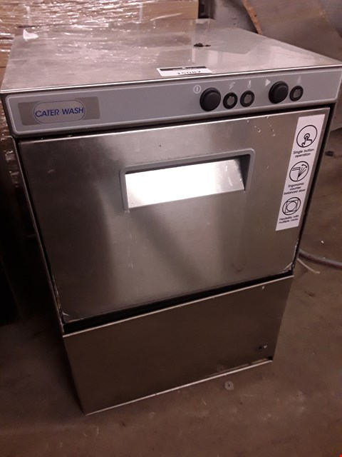 Lot 15082 CATER WASH COUNTER TOP GLASS WASHER