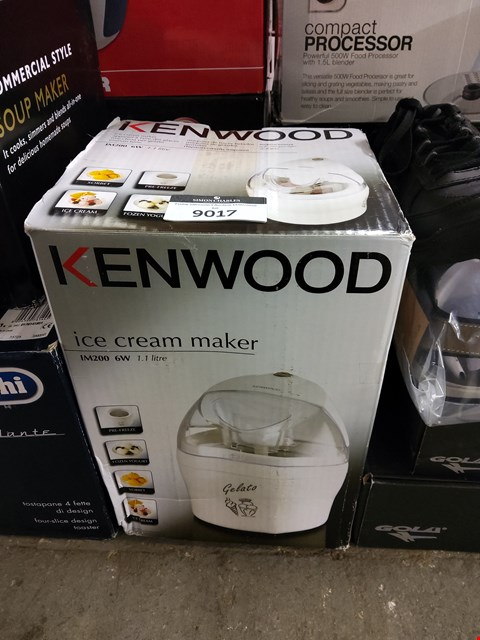 Lot 9017 BOXED KENWOOD ICE CREAM MAKER