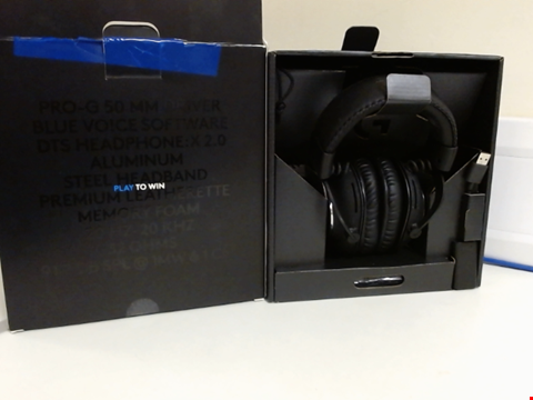 Lot 15088 LOGITECH G PRO X GAMING HEADSET (2ND GENERATION) WITH BLUE VO!CE, DTS HEADPHONE:X 7.1 AND 50 MM PRO-G DRIVERS (FOR PC, PS4, SWITCH, XBOX ONE, VR) - BLACK