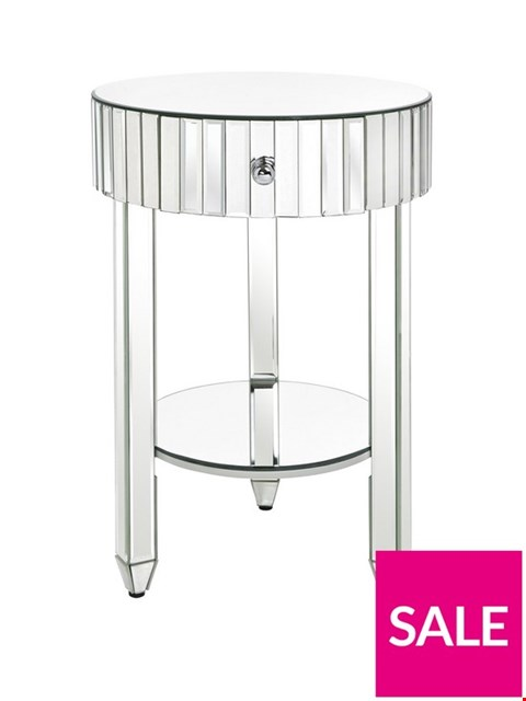 Lot 153 BOXED PHOEBE MIRRORED BEDSIDE TABLE (1 BOX)  RRP £149