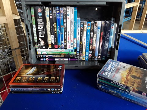 Lot 7692 BOX OF APPROXIMATELY 33 ASSORTED DVD'S TO INCLUDE IRON MAN, MOANA, THE GRUFFALO ETC