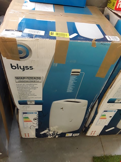 Lot 46 BOXED BLYSS WAP-12EA26 LOCAL AIR CONDITIONER RRP £256.00