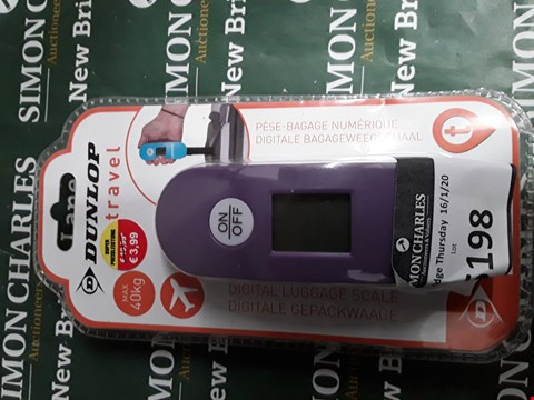 Lot 5198 DUNLOP DIGITAL TRAVEL SCALE